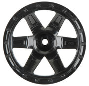 "Pro-Line Desperado 2.2"" Black Wheels for 1:16 E-REVO"