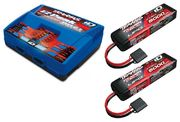 Traxxas Charger EZ-Peak Dual 8A and 2x3S 5000mAh Battery Combo