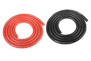 Team Corally Ultra V+ Silicone Wire Super Flexible Black and Red 10AWG 2683 / 0.05 Strands OD 5.5mm 2x 1m
