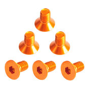 TeamC Aluminum M3x6 Flat Head Screw - Orange (6)
