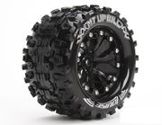 Louise 1:10 MT-Upphill Monster 2.8 Inch Tire Mounted On Black Wheel - 1:2 Offset - Soft (2)