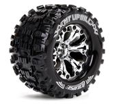 Louise 1:10 MT-Upphill Monster 2.8 Inch Tire Mounted On Chrome Wheel - 1:2 Offset - Soft (2)