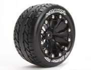 Louise 1:10 ST-Rocket 2.8 inch Truck Tire Mounted on Black Rim - Bearing - Soft (2)