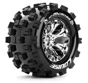 "LOUISE RC Tire & Wheel MT-MCROSS 2.8"" - Chrome - 0-Offset (2)"