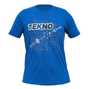 Tekno T-Shirt (diff blueprint, Next Level, dark blue)