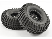 Fastrax 1:10 Crawler Paso 1.9 Mounted Scale Wheel Black (2)
