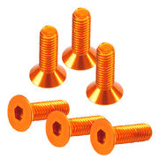 TeamC Aluminum M3x10 Flat Head Screw - Orange (6)