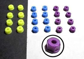RPM Nylon Nuts 6-32 (8) - Neon Blue
