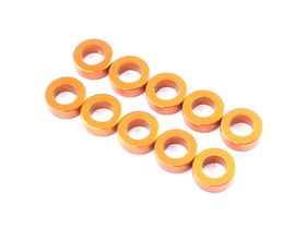 Destiny Aluminum Spacer 3.0x5.5x1.0mm - Orange (10)