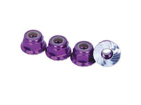 Hobbypro M4 Locknut With Flange - Purple (4)