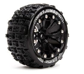 Louise 1:10 ST-Jumbo 2.8 inch Truck Tire Mounted on Black Rim - 0 Offset (2)
