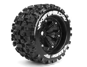 Louise 1:8 3.8 Inch Monster Tire MT-Uphill Mounted On Black Wheel - 1:2 Offset - Sport (2)