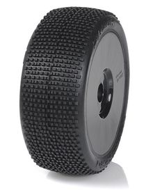 Medial Pro - Racing Tires mounted on White Rims for 1/8 Buggy - Razor M3 Soft (2)