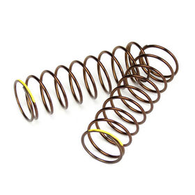 Tekno RC Shock Spring Set (rear, 1.3×9.875, 2.82lb/in, 63mm, yellow)