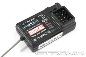 Etronix Pulse GFSK 3ch 2.4GHz Receiver For EX2 Sport Radio