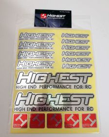 Highest Stickers A4 - Silver