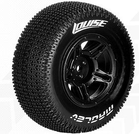 Louise SC - Maglev SC Tyre With Black Rim For Losi Ten-SCTE (Mounted) - Super Soft (2)