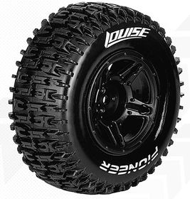 Louise SC - Pioneer SC Tyre With Black Rim For Losi TEN-SCTE (Mounted) - Soft (2)