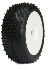 Medial Pro - Racing Tires mounted on White Rims for 1/8 Buggy - Turbo M4 Super Soft (2)