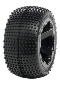 Medial Pro - Sport Tires mounted on Black Rims for Summit, Revo & Maxx - Viper 4.0 - (2)