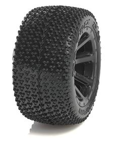 Medial Pro - Sport Tires - 1/16 Revo Series - Matrix 2.2 - Black Rims (Mounted) - (2)