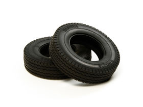 Tamiya Tractor Truck Tires - 22mm - Hard - (2 pcs)